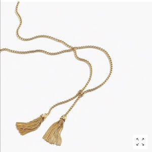 J.crew tassel chain necklace
